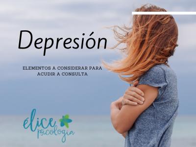 Depresión, cuando acudir a y un profesional. Élice Psicología Alcalá de Henares